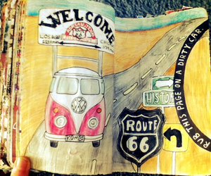 drawing and route 66 image