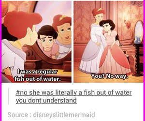 ariel, disney, and fish image