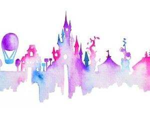 disney, art, and disneyland image