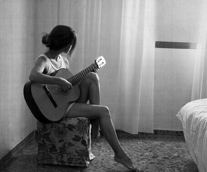 beauty, guitar, and music image