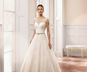 bridal, gown, and wedding dresses image