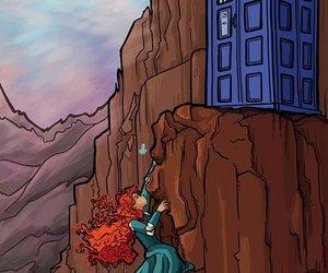 disney, doctor who, and merida image