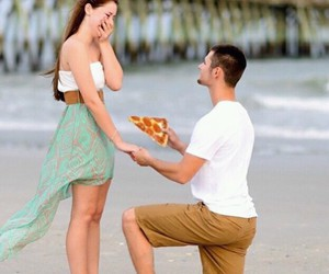 pizza, couple, and funny image