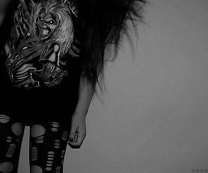 girl, iron maiden, and hair image