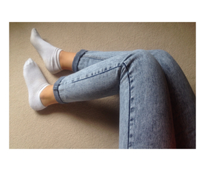 blue, feet, and jeans image