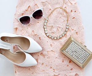 accessories, sunglasses, and clutch image
