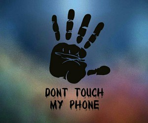 black, touch, and hand image
