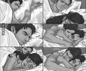 boyfriend, hug, and sleep image