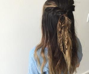 bohemian, hair, and peace image