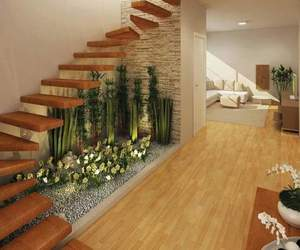 house, stairs, and home image