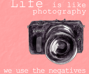canon, life, and negative image