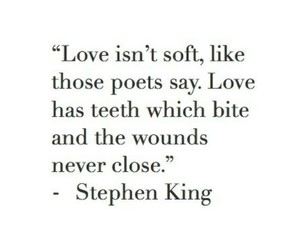 Stephen King and love image