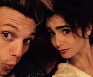jamie campbell, lily collins, and love image