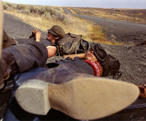 boots, hitchhiking, and mike brodie image