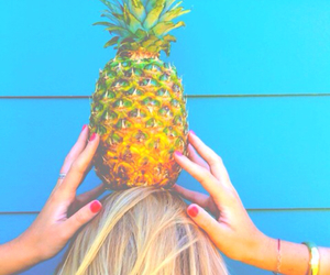pineapple, summer, and fruit image