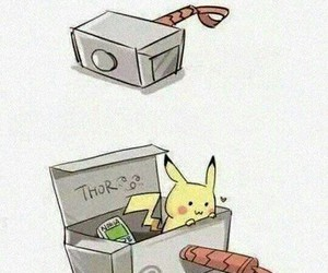 pikachu, thor, and cute image