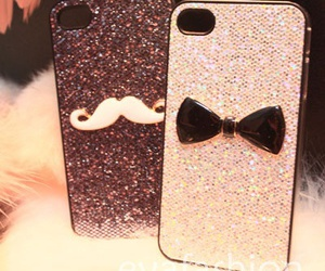 iphone, moustache, and coque image