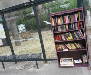 berlin, bookshelf, and bus station image
