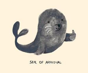 seal, cute, and overlay image