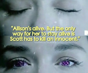 allison, argent, and teen wolf image