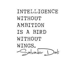 quote, ambition, and salvador dali image