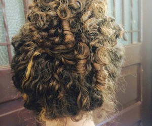 cabelo, curl, and girl image