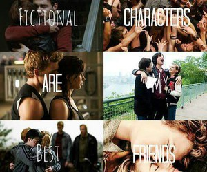 harry potter, hunger games, and fictional characters image