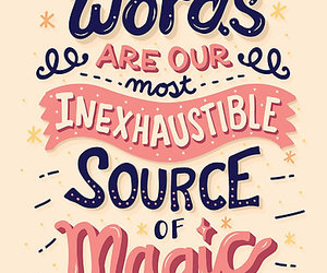 magic, words, and harry potter image