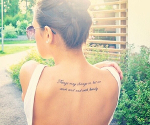 family, quote, and tattoo image