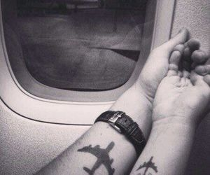 love, fly, and plane image