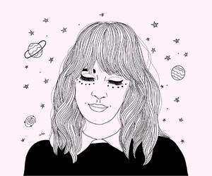 space, alexa chung, and stars image