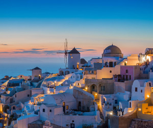 travel, Greece, and night image