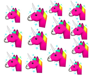 colors, pink, and unicorn image