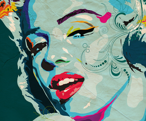 art, inspire, and marilyn image