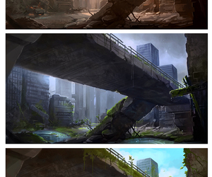 bridge, nature, and time image