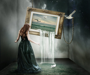 art, surreal, and surrealism image