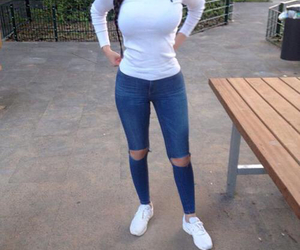 outfit, body, and jeans image