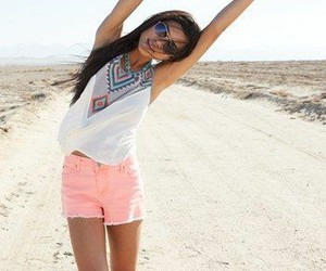 summer, outfit, and pink image