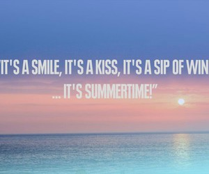 summer, summertime, and beach image