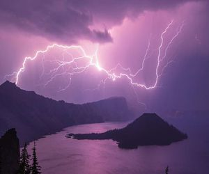purple, nature, and storm image