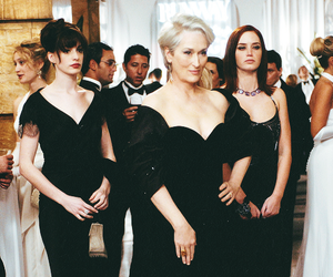 the devil wears prada, Anne Hathaway, and meryl streep image