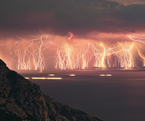 lightning, nature, and storm image