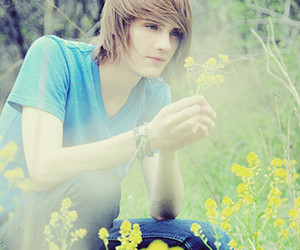 boy, flowers, and blonde image