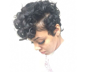 blackhair, cute, and curly image