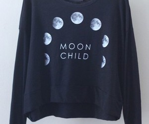 fashion, moon, and sweater image