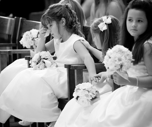 child, sweet, and wedding image