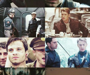aesthetic, steve rogers, and winter soldier image