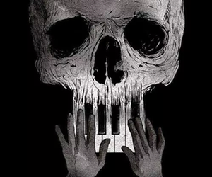 art, black and white, and creepy image