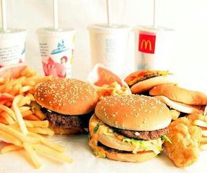 food, McDonalds, and burger image