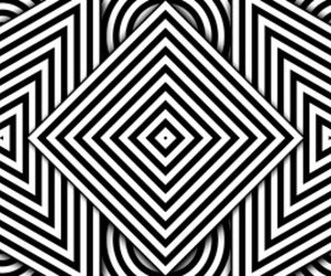 black and white, pattern, and psychedelic image